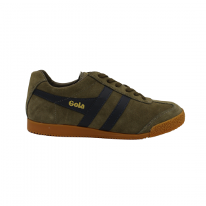 gola harrier suede khaki navy sneaker